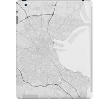 Dublin, Ireland Map. (Black on white) iPad Case/Skin