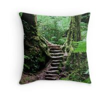 Rainforest Steps Throw Pillow