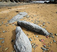The Three Stones...Marloes Sands, Pembrokeshire.  by Heidi Stewart