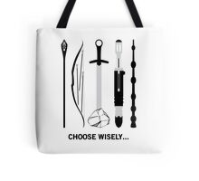 Choose Wisely! (Black Text) Tote Bag