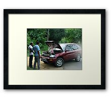 """""""DID U EVER HAVE ONE OF THOSE DAYS?""""..""""STRANDED"""" - """"LET ME GUESS?? YOUR WISH IS A NEW ENGINE""""-LOL Framed Print"""