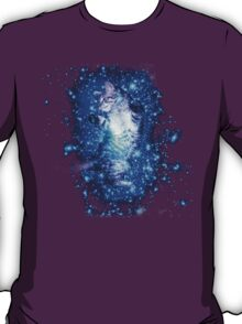 Psychedelic Galaxy Cat in space T-Shirt