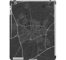Breda, Netherlands Map. (White on black) iPad Case/Skin
