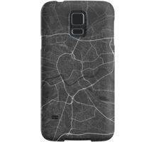 Krakow, Poland Map. (White on black) Samsung Galaxy Case/Skin