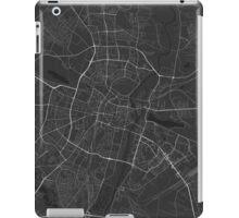 Poznan, Poland Map. (White on black) iPad Case/Skin