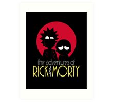Rick and Morty Adventures A Hundred Years shirt phone ipad case pillow hoodie Art Print