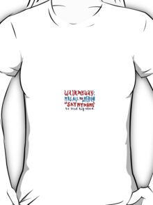 mrs all american lyric art T-Shirt
