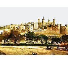 A digital painting of  The Tower, London, England 19th century. Photographic Print