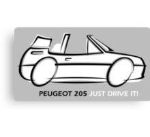 Peugeot 205 cabriolet Canvas Print