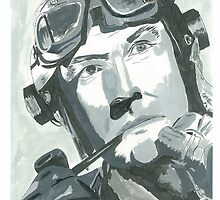 Kenneth Moore as Douglas Bader 2 by Michael Birchmore