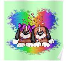 Love Puppies Poster