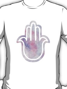 Watercolour Mixed Media Pastel Hamsa Hand T-Shirt