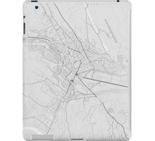 Lasi, Romania Map. (Black on white) iPad Case/Skin