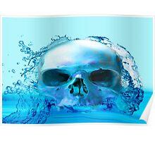 SKULL IN WATER Poster