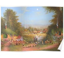 Gandalf's Return Fireworks In The Shire oil on canvas   Poster