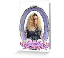 Transparent Helena - Orphan Black Greeting Card