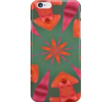Succulent Red and Yellow Flower Abstract I iPhone Case/Skin