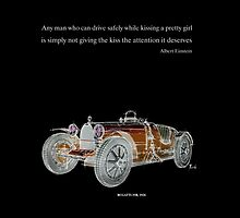 Classic Bugatti & Einstein quote by drawspots
