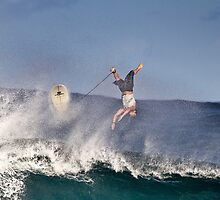Surfer At Banzai Pipeline 2011.4 by Alex Preiss