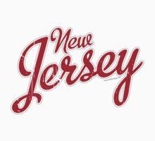 New Jersey Script VINTAGE Crimson Kids Clothes