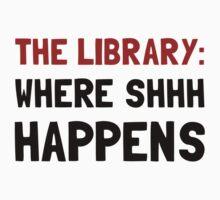 Library Shhh Happens T-Shirt