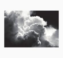 Black And white Sky With Building Puffy Storm Clouds Kids Clothes