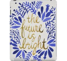 The Future is Bright – Navy & Gold iPad Case/Skin