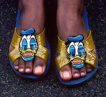 My Donald Duck Sandals by Kellice