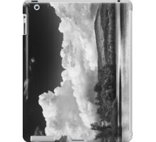 Black And white Vienna Maine Flying Pond With Storm Clouds iPad Case/Skin
