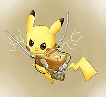Attack on Titan Pikachu by ArtsyGirl6899