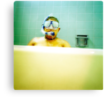 Snorkel and Mask Canvas Print