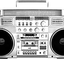 Ghetto Blaster by wearmoretees