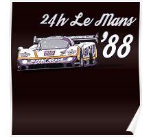 Jaguar Silk Cut Le Mans Poster