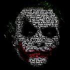 Dark Knight Joker - Typography Poster  by EdUnderground