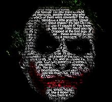Dark Knight Joker - Typography Poster  by EdUnderground