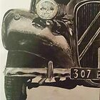 Vintage car painting by ComaKelsey