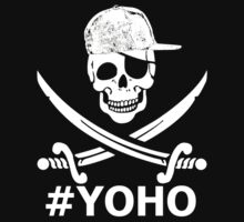 #YOHO white pirate snapback jolly roger by Irony-Express-