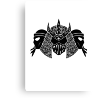 Foot Clan (black) Canvas Print