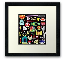 Choose Your Weapon! (SSB Items) Framed Print
