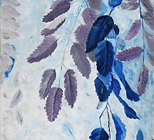 Lavender Blue Greenery by artmydrinksays