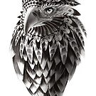 Ornate Tribal Shaman Eagle Print by SFDesignstudio