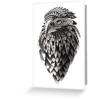 Ornate Tribal Shaman Eagle Print Greeting Card
