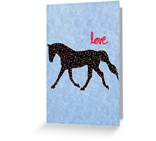 Cute Horse, Hearts and Love Greeting Card