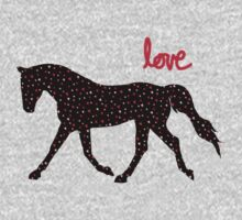 Cute Horse, Hearts and Love Kids Clothes