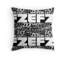 ZEFZEFZEF BLACK Throw Pillow