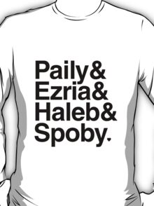 PLL Ships - black text T-Shirt