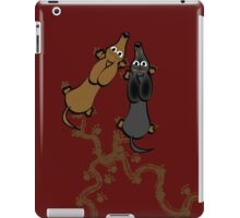 Smooth haired dachshunds iPad Case/Skin