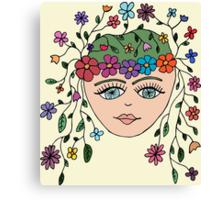 The Original Flower Child aka HIPPY Canvas Print