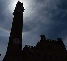 Silhouette; Torre Del Mangia, Siena by wiggyofipswich