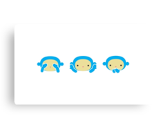 3 Wise Monkeys Canvas Print